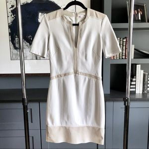 Helmut Lang Leather Trim Dress Size 2
